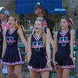 Exclusif - Ava Sambora, pom-pom girl pour son équipe de football américain fait démonstration de ses talents devant ses parents divorcés, Heather Locklear et Richie Sambora à Los Angeles, le 12 septembre 2013.