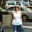 Exclusif - Heather Locklear assiste aux exploits de sa fille Ava Sambora, pom-pom girl pour l'équipe de foot de son établissement. Los Angeles, le 12 septembre 2013.