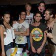 Jamel, Morgane, Emilie, Guillaume et Sonja de Secret Story font la fête au Duplex après la victoire d'Anaïs, samedi 14 septembre 2013 au petit matin.