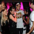 Jamel et Eddy de Secret Story font la fête au Duplex après la victoire d'Anaïs, samedi 14 septembre 2013 au petit matin.