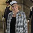 La comtesse Marianne Bernadotte au palais à Stockholm le 15 septembre 2013 pour le Te Deum du jubilé des 40 ans de règne du roi Carl XVI Gustaf de Suède dans la chapelle royale.