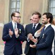 La famille royale de Suède célébrait au palais royal à Stockholm le 15 septembre 2013 le jubilé des 40 ans de règne du roi Carl XVI Gustaf.