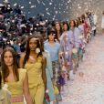 Défilé Burberry Prorsum, collection printemps-été 2014, lors de la fashion week de Londres. Le 16 septembre 2013