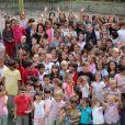 Exclusif - La princesse Charlene de Monaco rend visite à l'école maternelle de Fontvieille à Monaco, le 16 septembre 2013.