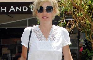PHOTOS : Sharon Stone, en mode léopard... Elle a les crocs !