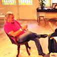 """Hospitalisé mardi 17 septembre pour un trouble du rythme cardiaque, Alain Delon a repris, jeudi 19, les répétitions de sa pièce de théâtre """"Une journée ordinaire"""" avec sa fille Anouchka Delon."""