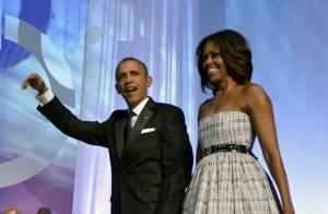 Michelle Obama : Sublime devant un Barack Obama subjugué et amoureux