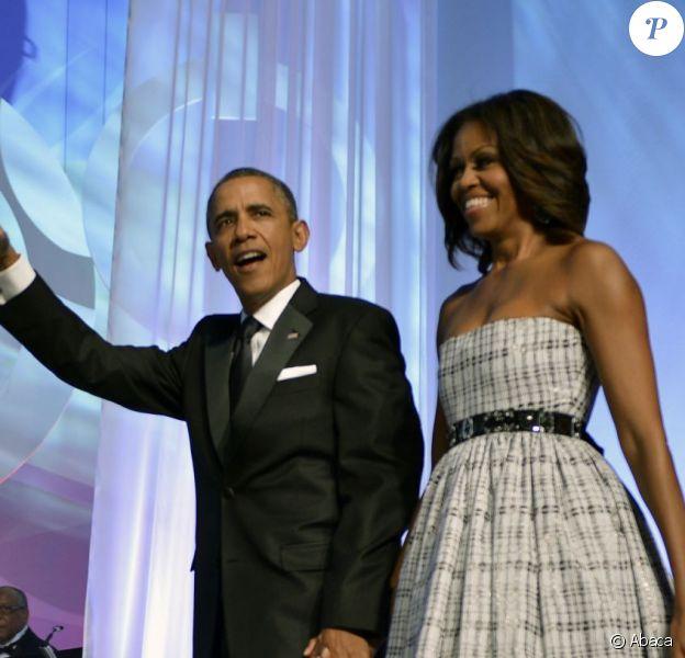Barack et Michelle Obama lors du dîner de la fondation du Congressional Black Caucus, le 21 septembre 2013 à Washington