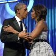 Barack et Michelle Obama, comlpices et amoureux lors du dîner de la fondation du Congressional Black Caucus, le 21 septembre 2013 à Washington