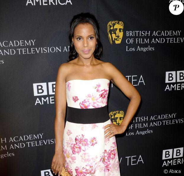 Kerry Washington à la soirée BAFTA TV Tea au SLS Hotel de Los Angeles, le 21 septembre 2013.