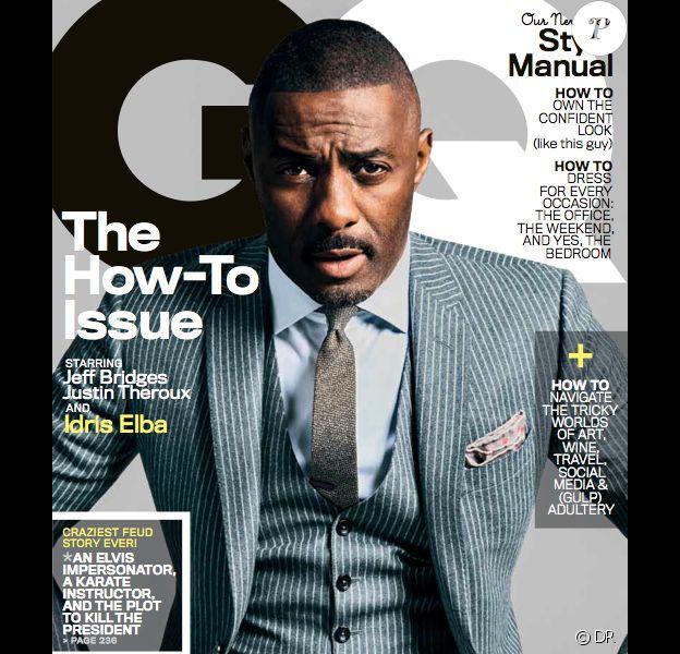 Idris Elba en couverture de l'édition américaine GQ - septembre 2013