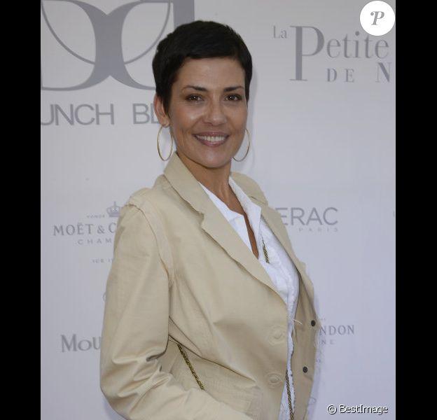 Cristina Cordula lors du Brunch Blanc à Paris le 30 juin 2013.