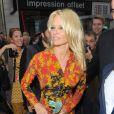 Pamela Anderson a assisté au défilé Vivienne Westwood printemps-été 2014 au Centorial. Paris, le 28 septembre 2013.
