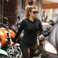 Kim Kardashian, sportive et matinale, s'est rendue ce mardi 1er octobre au club de sport L'Usine dans le 4e arrondissement de Paris.