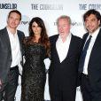 Michael Fassbender, Penélope Cruz, Ridley Scott et Javier Bardem lors de l'avant-première du film Cartel (The Counselor) à Londres le 3 octobre 2013