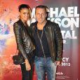 """Jean Roch et sa compagneAnaïs à Paris en avril 2013 lors du spectacle - Michael Jackson """"Immortal World Tour"""" par le Cirque du Soleil au Palais Omnisports de Bercy"""