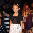 Leni, la fille d'Heidi Klum, assiste du premier rang au défilé Truly Scrumptious à New York. Le 5 octobre 2013.