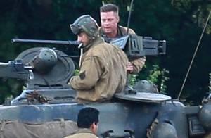 Brad Pitt : Avant le triomphe, soldat en ''Fury'' au côté de Shia LaBeouf