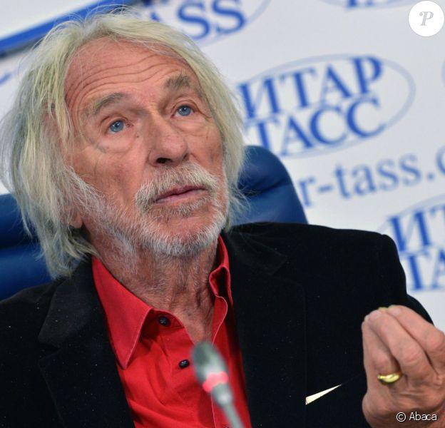 L'acteur français Pierre Richard, en conférence de presse à Moscou pour présenter son vin, le 3 octobre 2013