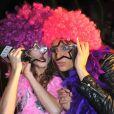 """Laury Thilleman et Marie-Clotilde (Chroniqueuse """"Must célébrité"""" M6) - Générale de """"D.I.S.C.O. Le spectacle musical"""" aux Folies Bergère à Paris, le 10 octobre 2013."""