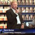 Boris Becker présente son autobiographie à Francfort le 10 octobre 2013.