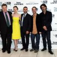 "John Goodman, Carey Mulligan, Oscar Isaac, Joel Coen, Ethan Coen lors de la première du film ""Inside Llewyn Davis"" à Londres le 15 octobre 2013."