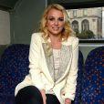 Britney Spears fait un tour de Londres en bus, le 15 octobre 2013.