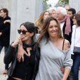 Karole Rocher revisitant La Sorties des usines Lumière dans le cadre du Festival Lumière à Lyon le 19 octobre 2013
