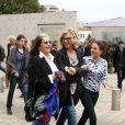 Francoise Fabian, Mélanie Bernier revisitant La Sorties des usines Lumière dans le cadre du Festival Lumière à Lyon le 19 octobre 2013