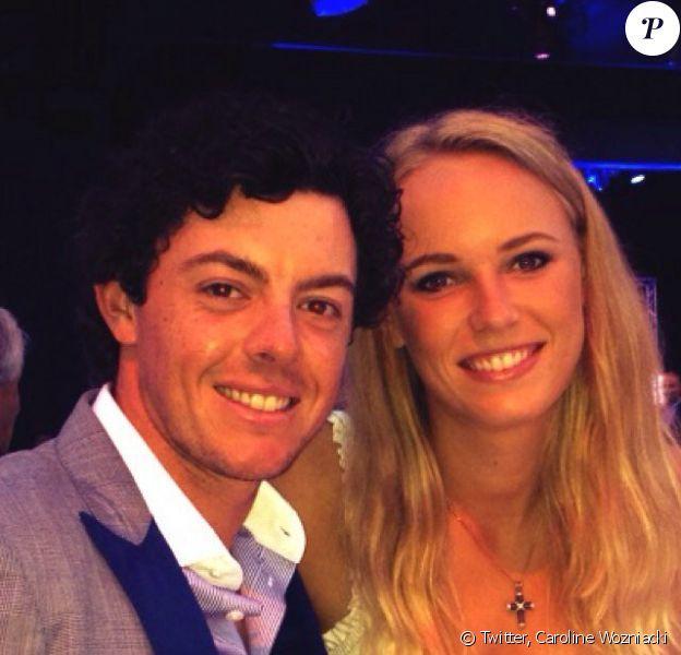 Caroline Wozniacki et Rory McIlroy, photo de profil utilisée par la Danoise sur son compte Twitter