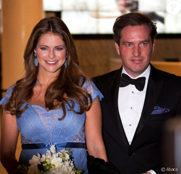 La princesse Madeleine de Suède, enceinte, prenait part avec son mari Chris O'Neill au diner de gala du Green Summit de New York marqué par la campagne From Farm to Fork, le 23 octobre 2013.