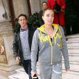 Tamara Ecclestone à la sortie d'un hôtel de Londres, le 21 octobre 2013