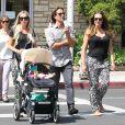 Exclusif - Tamara Ecclestone, son mari Jay Rutland, sa soeur Petra et sa nièce LAvinia, à Beverly Hills, le 17 septembre 2013