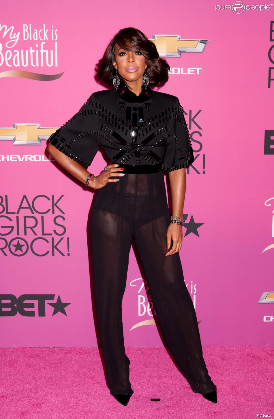 Kelly Rowland sur le tapis rouge de la soirée BET Black Girls Rock 2013 à Newark, le 26 octobre 2013.