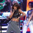 Kelly Rowland sur scène lors de la soirée BET Black Girls Rock 2013 à Newark, le 26 octobre 2013.