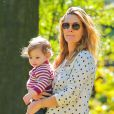 Drew Barrymore avec sa fille Olive à New York le 28 septembre 2013