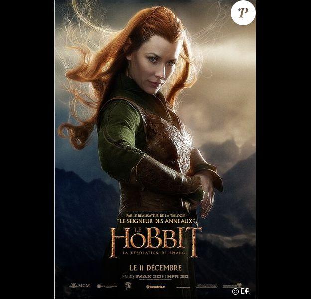 Affiche du Hobbit - La Désolation de Smaug, en salles le 11 décembre 2013 avec Evangeline Lilly