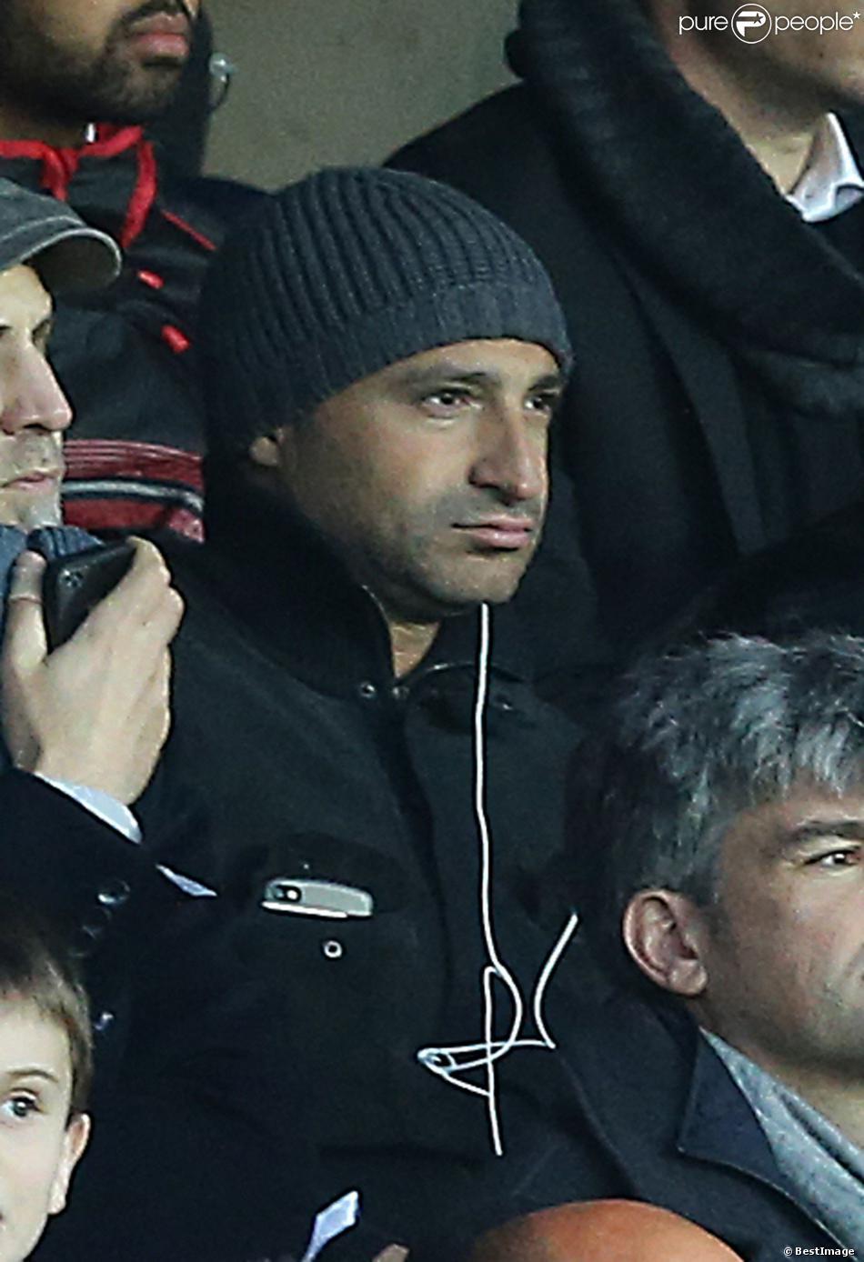 Thomas Fabius lors du match entre le Paris Saint-Germain et l'OGC Nice, au Pars des Princes à Paris le 9 novembre 2013