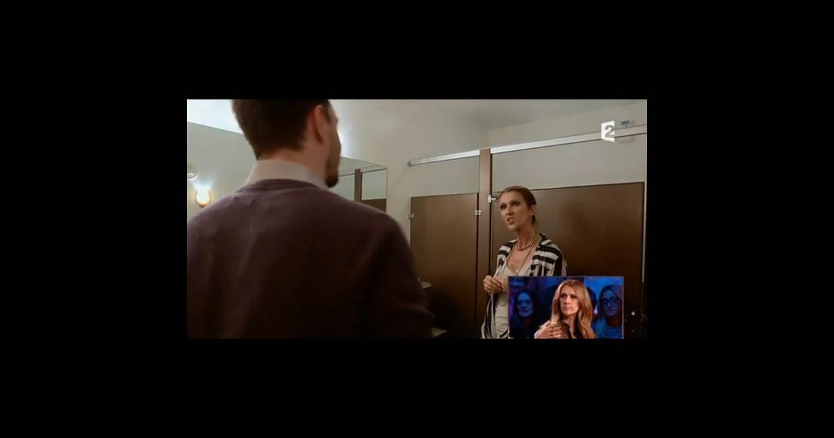 c 233 line dion dans des toilettes teste sa voix