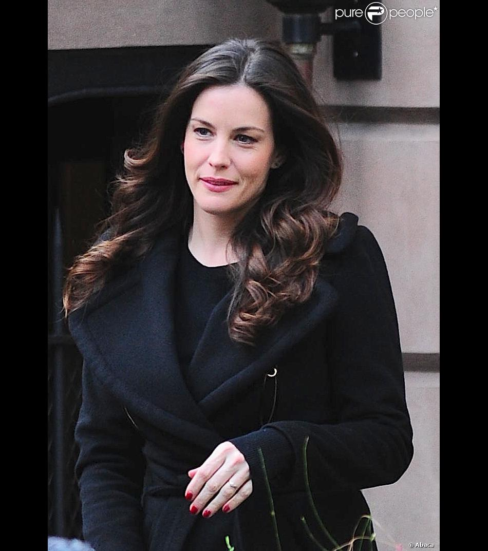 Liv Tyler quitte son appartement à New York le 5 novembre 2013