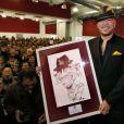 Ravi, Pascal Obispo inaugure une salle de spectacle à son nom à La Lande-de-Fronsac, en Aquitaine, le 24 novembre 2013.