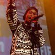 Wiz Khalifa sur scène à la Gaîté Lyrique à Paris, le 23 septembre 2013.