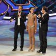 EXCLUSIF. Kenza Farah et Philippe Candeloro lors du premier prime Ice Show, le 27 novembre 2013, sur M6