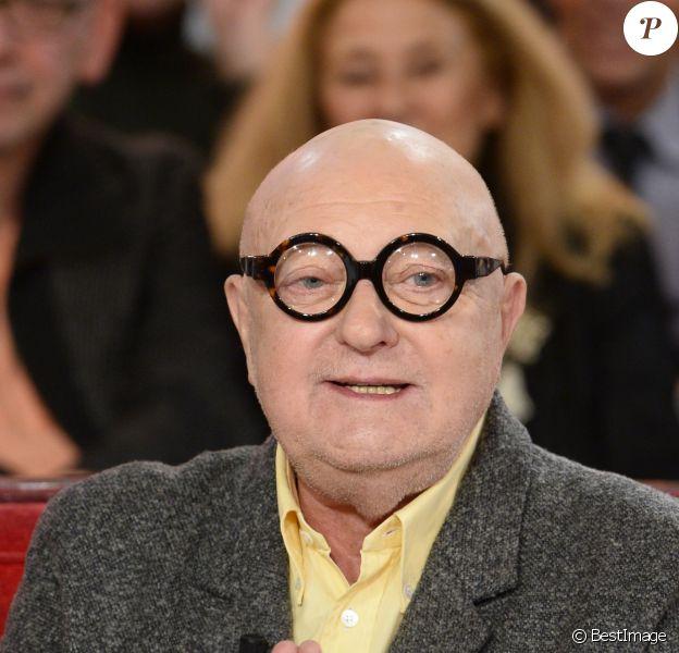 """Jean-Pierre Coffe à l'enregistrement de l'émission """"Vivement dimanche"""" à Paris, le 20 novembre 2013."""