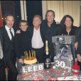 Michl Leeb entouré (de gauche à droite) de Patrice Dominguez, Tony Gomez, Alain Prost, Robert Namias, Béatrice Leeb et Robert Hossein.