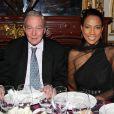 Yves Boisset et Christine Kelly lors du 16e Bal de Paris à l'hôtel Le Marois. Paris, le 7 décembre 2013.