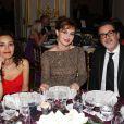 Aïda Touihri, Louise Bourgoin et Christophe Barratier lors du 16e Bal de Paris à l'hôtel Le Marois. Paris, le 7 décembre 2013.