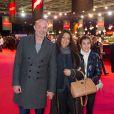 Franck Leboeuf en famille lors du Grand Prix Gucci au dernier jour du Gucci Paris Masters à Villepinte le 8 décembre 2013