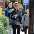 Exclusif - Maria Shriver va déjeuner avec ses fils à Brentwood, le 10 décembre 2013.