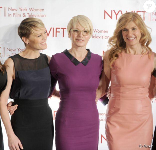 Wendy Williams, Robin Wright, Ellen Barkin et Connie Britton - 33e Muse Awards organisés par l'association New York Women in Film & Television, à l'hôtel Hilton de New York le 12 décembre 2013.
